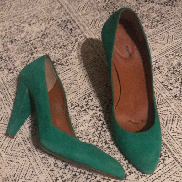Madewell Shoes | Kelly Green Suede